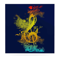 """Federic Levy-Hadida """"Sound of Nature"""" Rainbow Music Luxe Square Panel"""