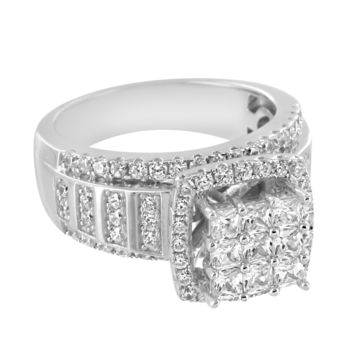 Sterling Silver Solitaire Bling Princess Cut Lab Diamonds Wedding Ring Band