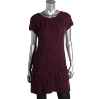 Style & Co. Womens Knit Cap Sleeves Sweaterdress