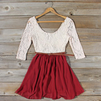 Timber Lace Dress in Burgundy