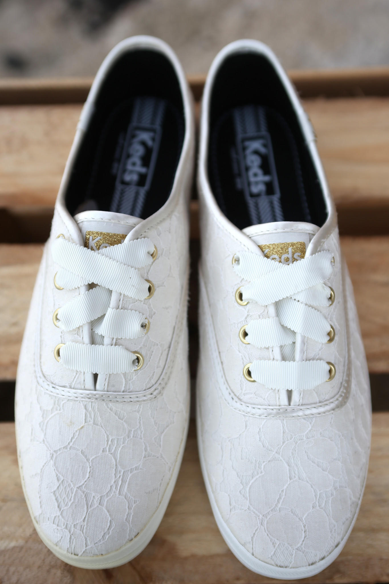 Keds Champion Lace Sneakers {Cream
