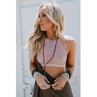 Bohemian Must Lace Bralette - Rose