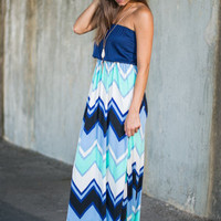 That's Life Maxi Dress, Navy
