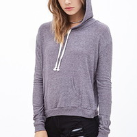 Striped Knit Drawstring Hoodie
