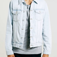Bleach Wash Denim Western Jacket