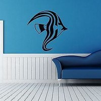 Wall Sticker Vinyl Decal Fish Marine Ocean Decor Nice for Bathroom Unique Gift (ig1157)