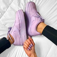 Onewel Nike Air Force 1 AF1 Low-Top Joker Flat Sneakers Shoes Full purple