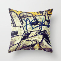 Graffiti Throw Pillow by Shelby Rushie | Society6