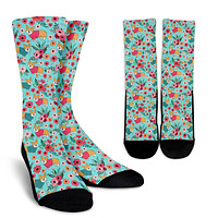 Corgi Flower Socks