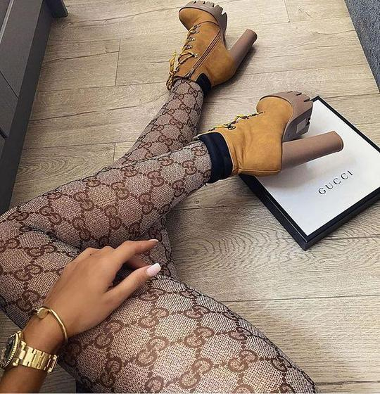 Image of GUCCI GG pattern tights