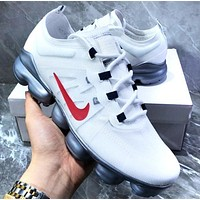 Bunchsun Nike Air Vapormax Popular Men Casual Air Cushion Sport Running Shoes Sneakers White&Red