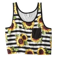 Xhilaration® Junior's Printed Cropped Tank - Assorted Colors