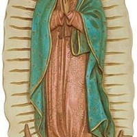 Our Lady of Guadalupe Wall Hanging Relief, Color Details
