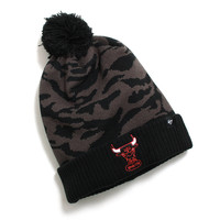 Chicago Bulls M Twenty Nine Cuff Knit Pom Beanie Black