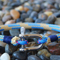 Nautical Bracelet Rope Bracelet SHACKLE Bracelet Sailing Surfer Kayaker Unisex
