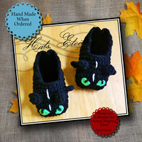 Toothless Slippers Inspired by How to Train Your Dragon