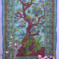 Indian Tree of Life Wall Hanging Hippie Tapestry Bedspread Cover Throw Boho Bohemian Coverlet Twin Ethnic Decor Mandala tapestries