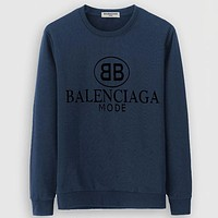 Balenciaga Casual Simple Women Men Long Sleeve Shirt Top Tee