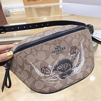 Hipgirls COACH  New fashion pattern leather shoulder bag crossbody bag