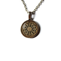 Sacred geometry necklace Religious jewelry Divine Mandala pendant n396