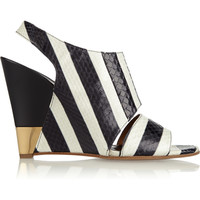 Chloé - Striped ayers wedge sandals