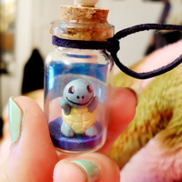 Pokemon inspired Bottle Charm: Squirtle