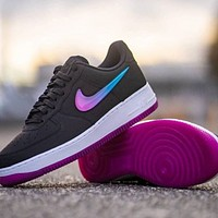 Hipgirls Nike Wmns Air Force 1 Jelly cream white liquid crystal hook classic wild casual sports shoes Black