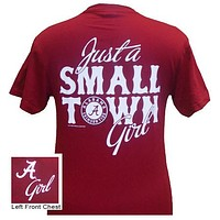 Alabama Crimson Tide Just A Small Town Bama Girl Bright Girlie Girl T-Shirt