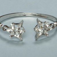 Silver Fashion Lord of the Rings Arwen Evenstar Flower Bracelet Gift