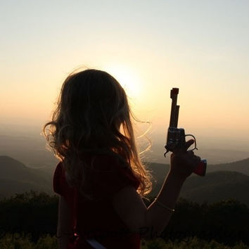 Cowgirl Photograph - Mountains at Sunset - Country Home Decor - Indie Art