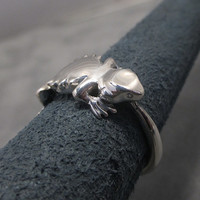 Bearded dragon ring - Sterling silver - Beardie