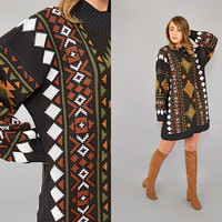 80's Southwestern OVERSIZED Sweater/Dress