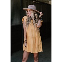 Victoria Babydoll Dress - Yellow