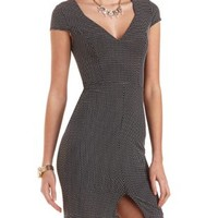 Dotted Cap Sleeve Bodycon Dress by Charlotte Russe