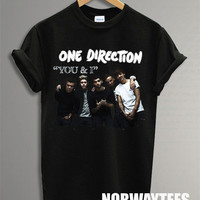 One Direction Shirt The You and I Symbol Printed on Black t-Shirt For Men Or Women Size TS 92