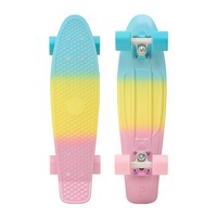 """Penny 22"""" Pastels Fade Mint/White-Multi/Blue and Pink Skateboard Complete - 2014"""