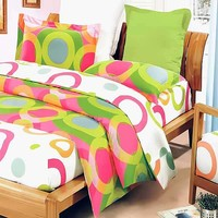 Rhythm of Colors 8PC Comforter Set Combo Queen: Baby Bedding   Kids Bedding   Rag Quilts   Kids Rooms   Quilts Just 4 Kids