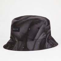 Neff Black Floral Mens Bucket Hat Black One Size For Men 25255210001