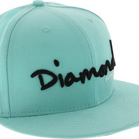 Diamond OG Script Hat 7-3/4 DMND.Blue/Black Newera
