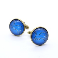 Detroit Lions Charms Cufflink Cuff Link Football Classic Personalized Cuff-links for Men