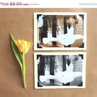 CiJ SALE set of 2 greeting cards ballet art blank notecards handmade greeting cards Paris photography mothers day card
