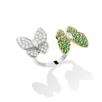 Two Butterfly Between the Finger Ring - VCARO6W500- Van Cleef & Arpels