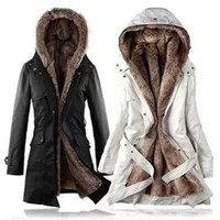 Women Warm Winter Coats Thicken Fleece Fur Lined Jackets Outers Garments Beige [8384287431]
