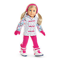"""American Girl® Clothing: """"Hit the Slopes"""" Outfit for Dolls + Charm"""