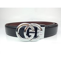 Gucci's new fashion versatile men and women double G round head Gucci belt