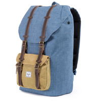 Herschel Supply Co.: Little America Backpack - Navy / Straw Crosshatch (Ranch)