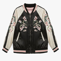 Reversible Silky Bomber Jacket