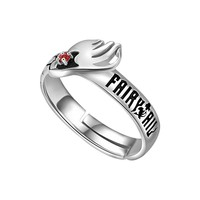 Anime Fairy Tail Natsu Ring 925 Sterling Silver Adjustable