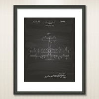 Airplane 1932 Patent Art Illustration - Drawing - Printable INSTANT DOWNLOAD - Get 5 Colors Background