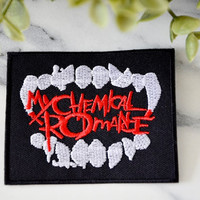My CHEMICAL ROMANCE Music Iron on Patch Band Retro Embroidered Badge Patches Singer Pop Thrash Punk Headbanger DeathGrunge Metal Rock N Roll